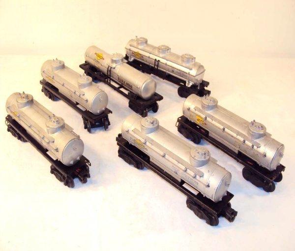 8: ABT: Lionel #6465 (4), #6415 & #6555 Tank Cars