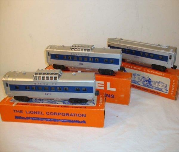 30: ABT: Lionel #2412/2412/2416 Santa Fe Passenger Cars
