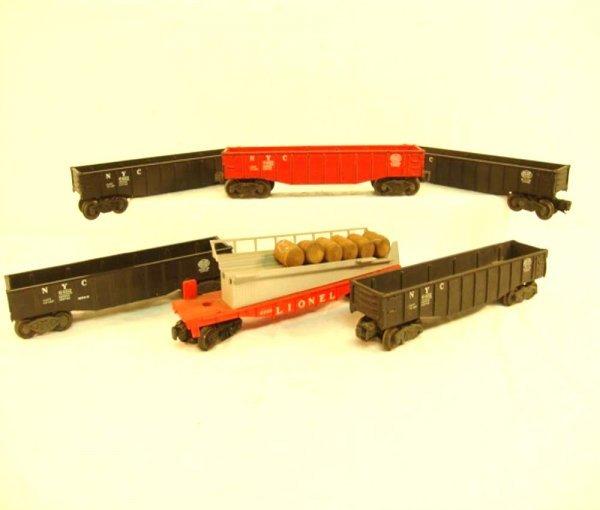 4: ABT: 5 Lionel Gondolas & #6343 Barrel Ramp Cars
