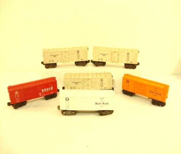 7: ABT: 6 Lionel Assorted Box Cars