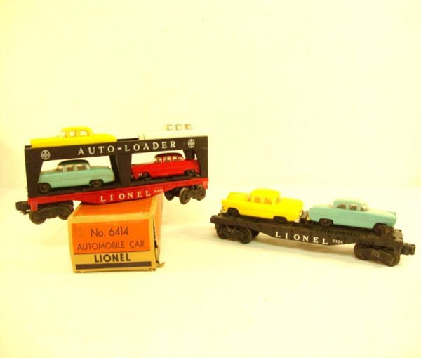 8: ABT: Lionel #6414 & #6424 Automobile Cars/OB