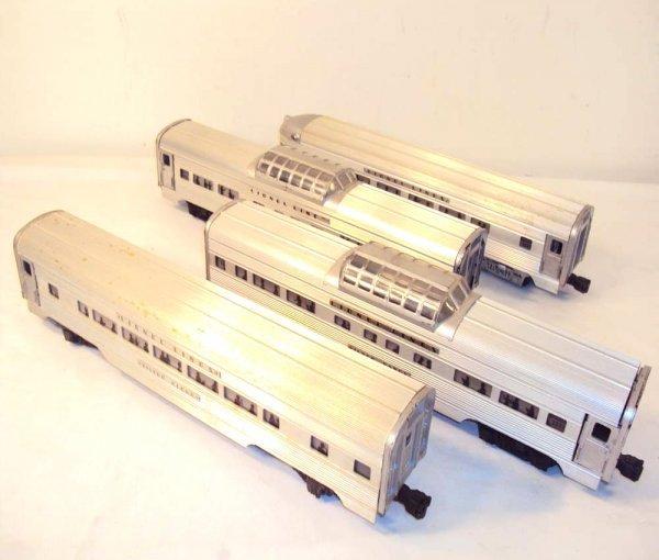 10: ABT: Lionel #2531/32/32/33 Silver Dawn Passenger Ca