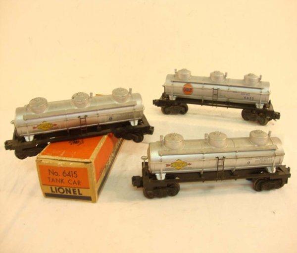 22: ABT: 3 Lionel Tank Cars/OB
