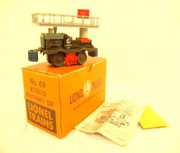 23: ABT: Lionel #69 Motorized Maintenance Car/OB+