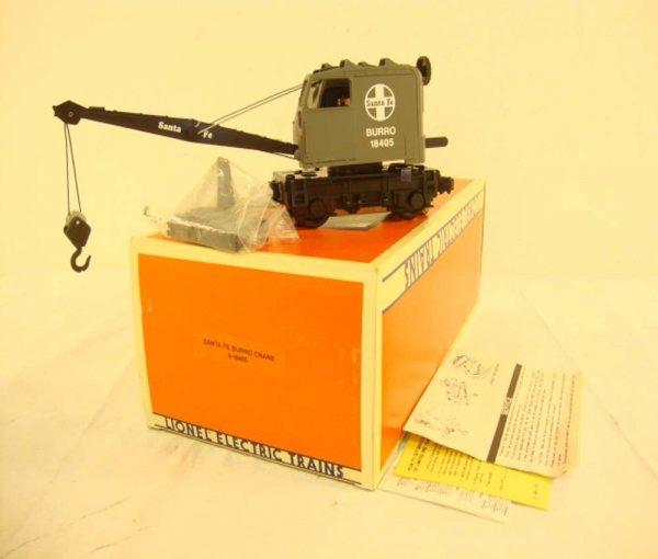 9: ABT: Lionel #18405 Santa Fe Operating Burro Crane/OB