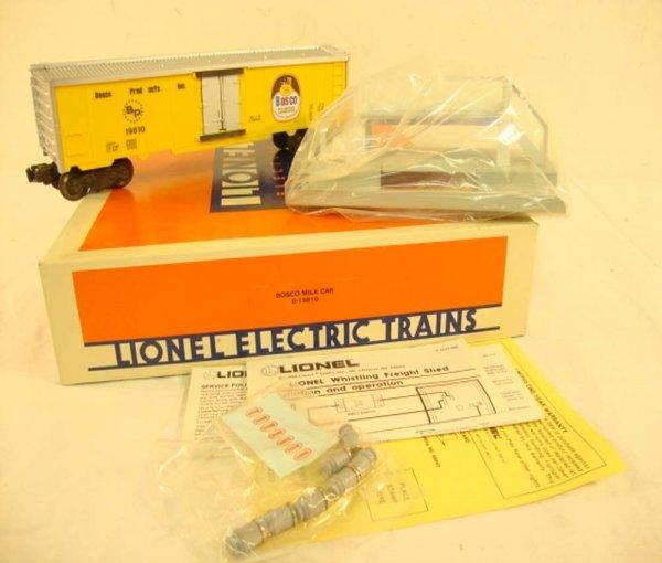 18: ABT: Lionel #19810 Operating Bosco Milk Car Set/OB