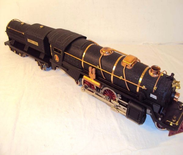 1: ABT: Lionel #400E Black Crackle Steam Engine & Tende