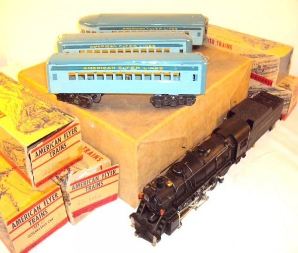 10: ABT: AF O Gauge #435/433 Diecast Pacific Engine & T