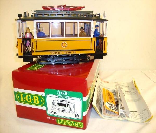 21: ABT: LGB G Scale: #2935 Cincinnati Transit Trolley/