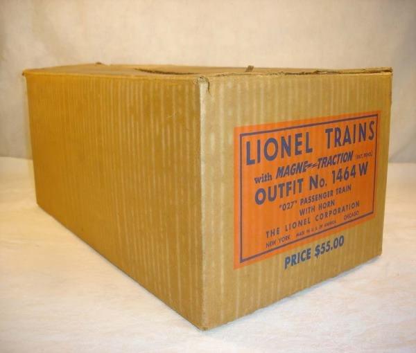 1001: ABT:Brick Lionel #1464W 1950 Anniversary Set Box