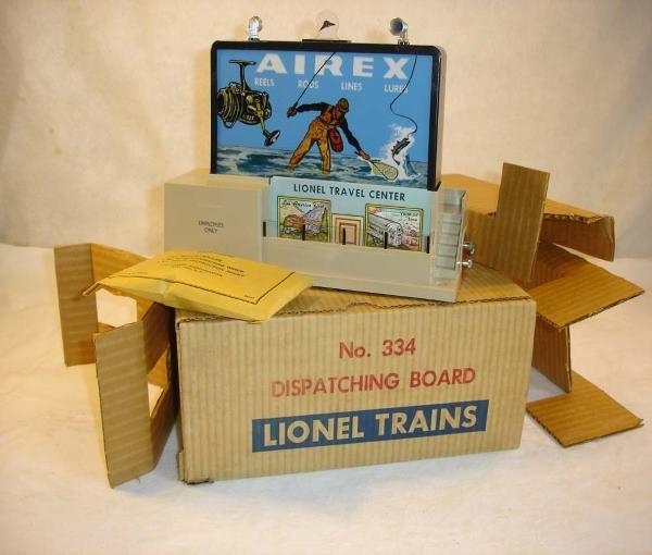 1002: ABT:Mint Lionel #334 Dispatch Station/Brick OB+