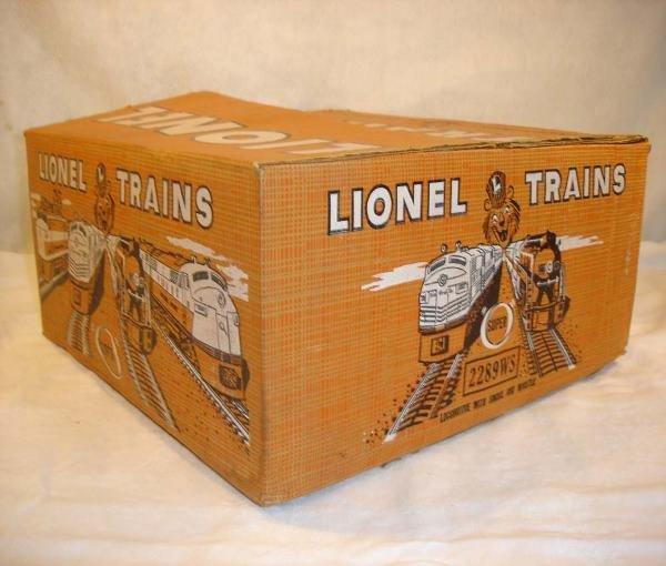 1004: ABT:Brick Lionel #2289WS 1957 Berkshire Set Box