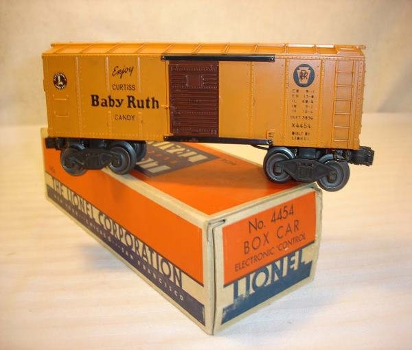 1006: ABT:Nice Lionel #4454 Electronic Box Car/OB+