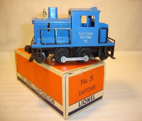 1018: ABT:Amazing Lionel #51 Navy Switcher/Brick OB+