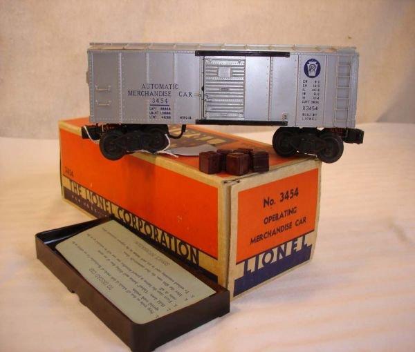 1021: ABT: Lionel #3454 Silver Merchandise Car/Nice OB+