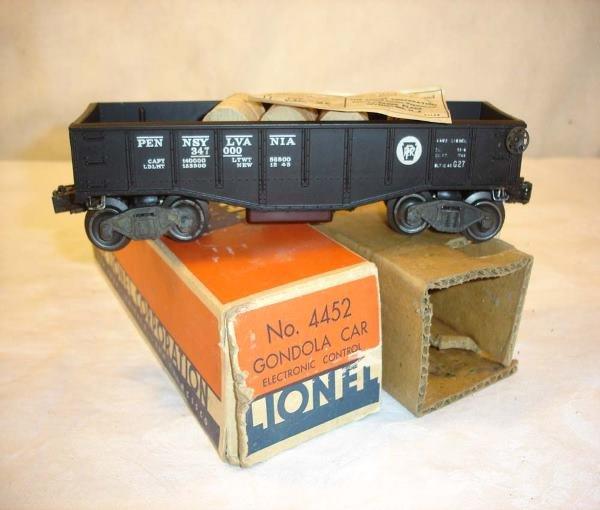 1022: ABT:Mint Lionel #4452 Electronics Gondola/OB+
