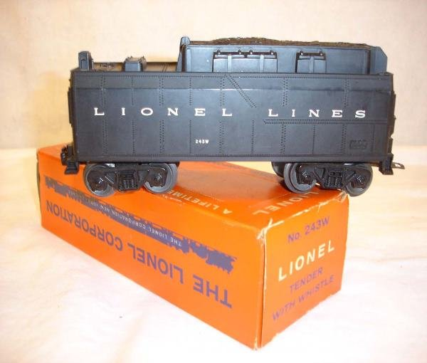 1023: ABT:Great Lionel #243W Whistle Tender/59 OB