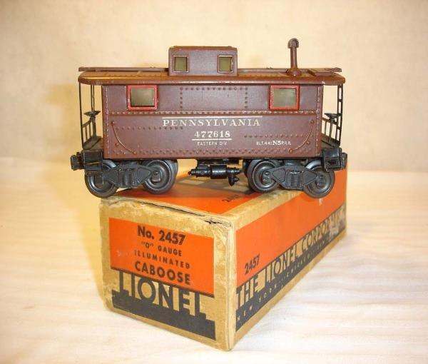 1024: ABT: Rare Lionel #2457 Tuscan 1945 Caboose/OB