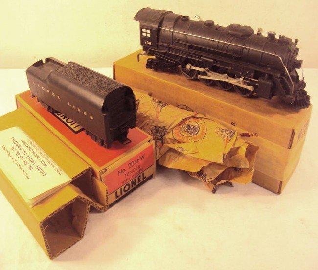 5: ABT: Lionel #736 Berkshire & #2046W Tender/OBs+