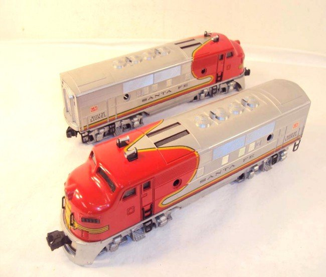 10: ABT: Nice Lionel #2333 High Red-Decal Santa Fe AA D
