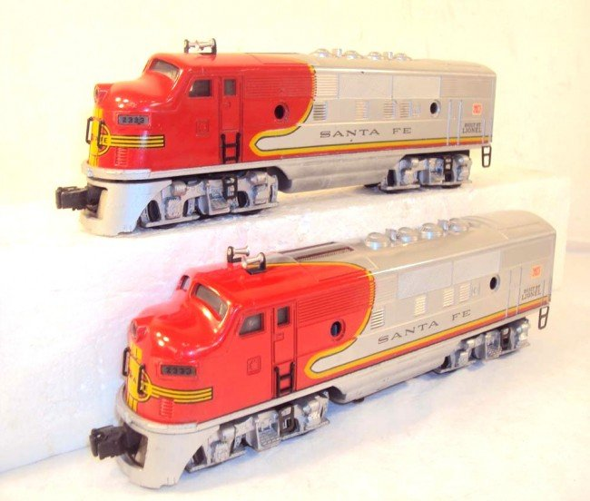 10: ABT: Nice Lionel #2333 High Red-Decal Santa Fe AA D - 2