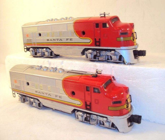 10: ABT: Nice Lionel #2333 High Red-Decal Santa Fe AA D - 5