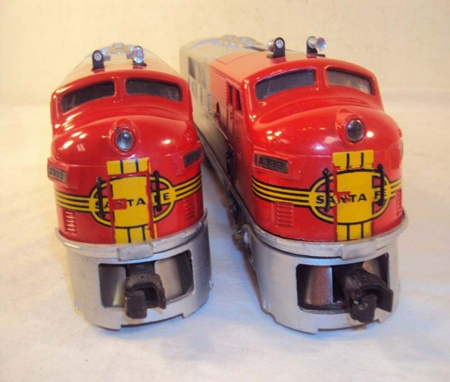 10: ABT: Nice Lionel #2333 High Red-Decal Santa Fe AA D - 8