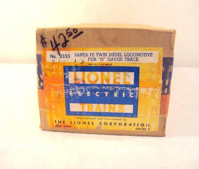 11: ABT: Nice Lionel #2333 Santa Fe F-3 1949 Label Mast - 3