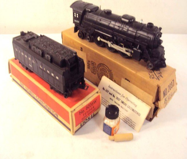 14: ABT: Lionel #2037 Steam Engine & #6026W Tender/OBs