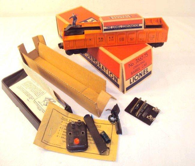 21: ABT: Great Lionel #3562-75 Orange Barrel Car/OB++