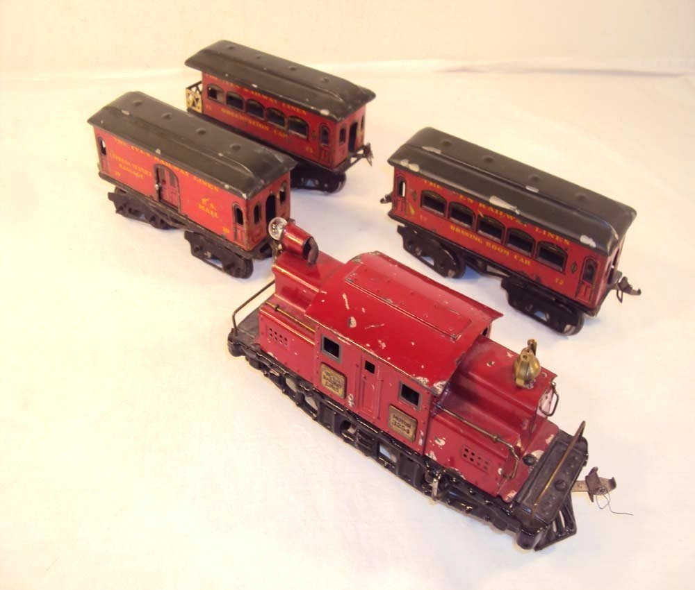 3: ABT: Scarce Ives O Gauge #3254 Red Electric w/#70/72