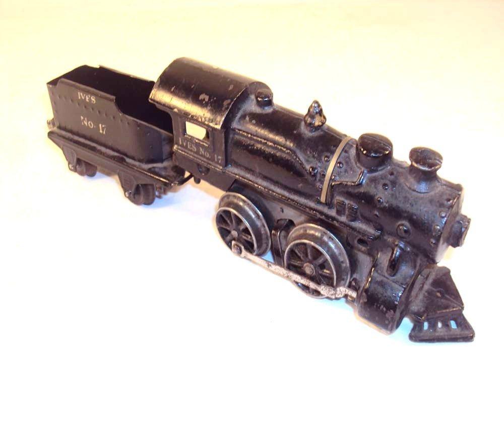 6: ABT: Early Ives O Gauge #17 Clockwork Steam Engine &
