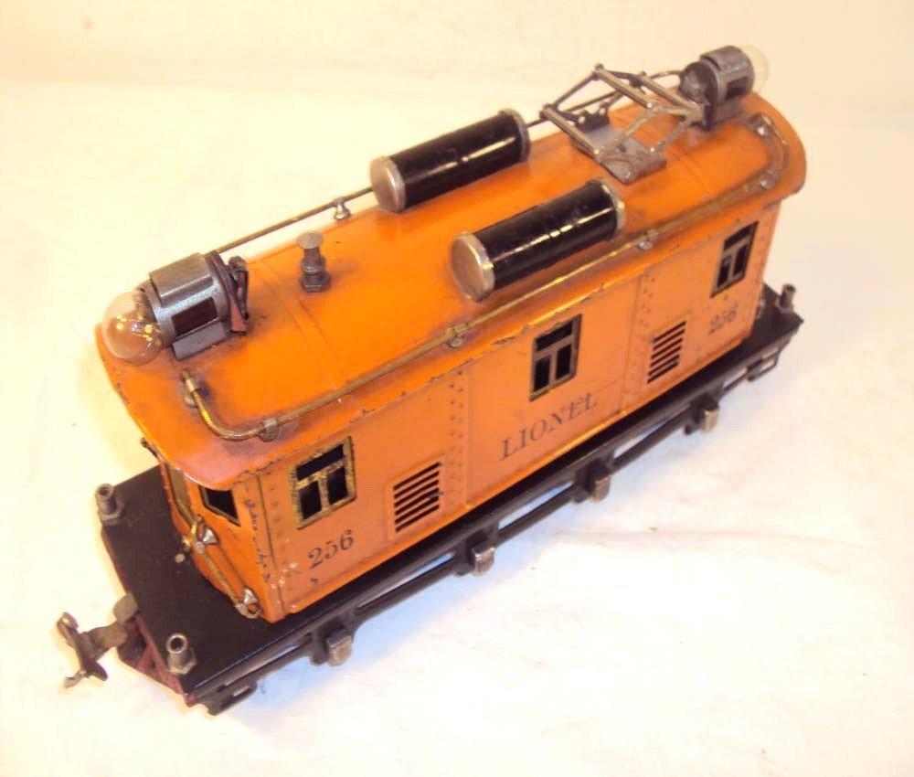 22: ABT: Scarce Lionel O Gauge #256 Orange Electric/Rub