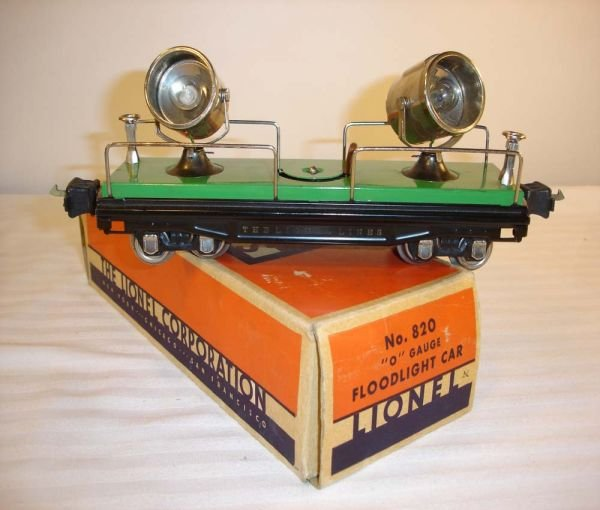 7: ABT:Great Lionel #820 Searchlight Car/Brick OB