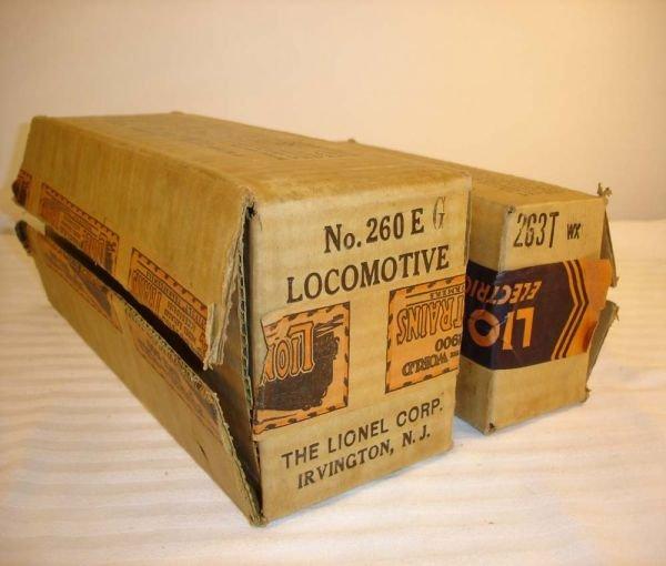 8: ABT:Brick Lionel #260E/263T (WX) Late Boxes