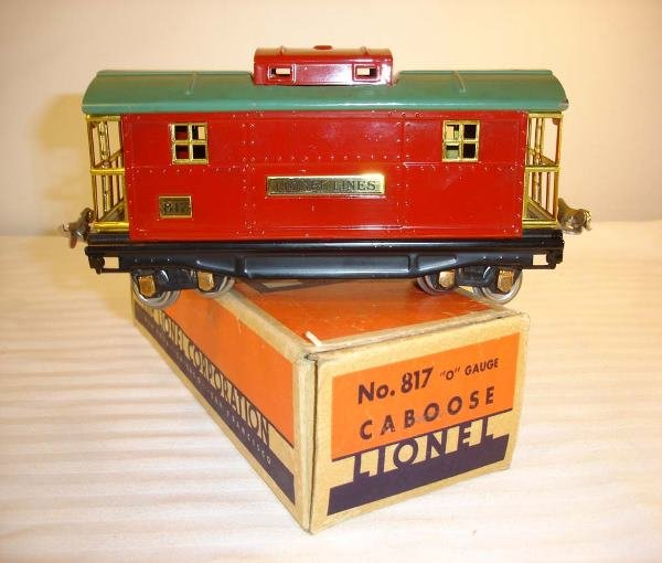 11: ABT:Great Lionel #817 Red/Peacock Caboose/OB