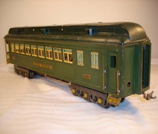 """13: ABT:Lionel #416 Two-Tone Green NY """"State"""" Car"""