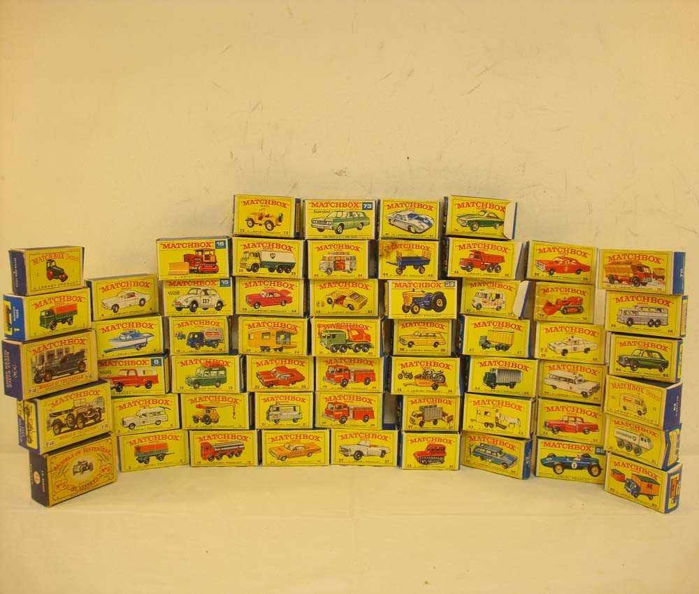 142: ABT: Great Group of 56 Empty Matchbox Boxes