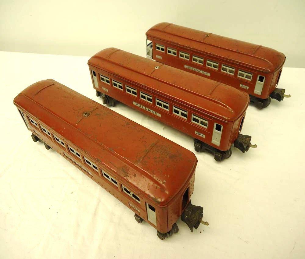 8: ABT: Lionel #2642 (2) & #2643 Brown Passenger Cars