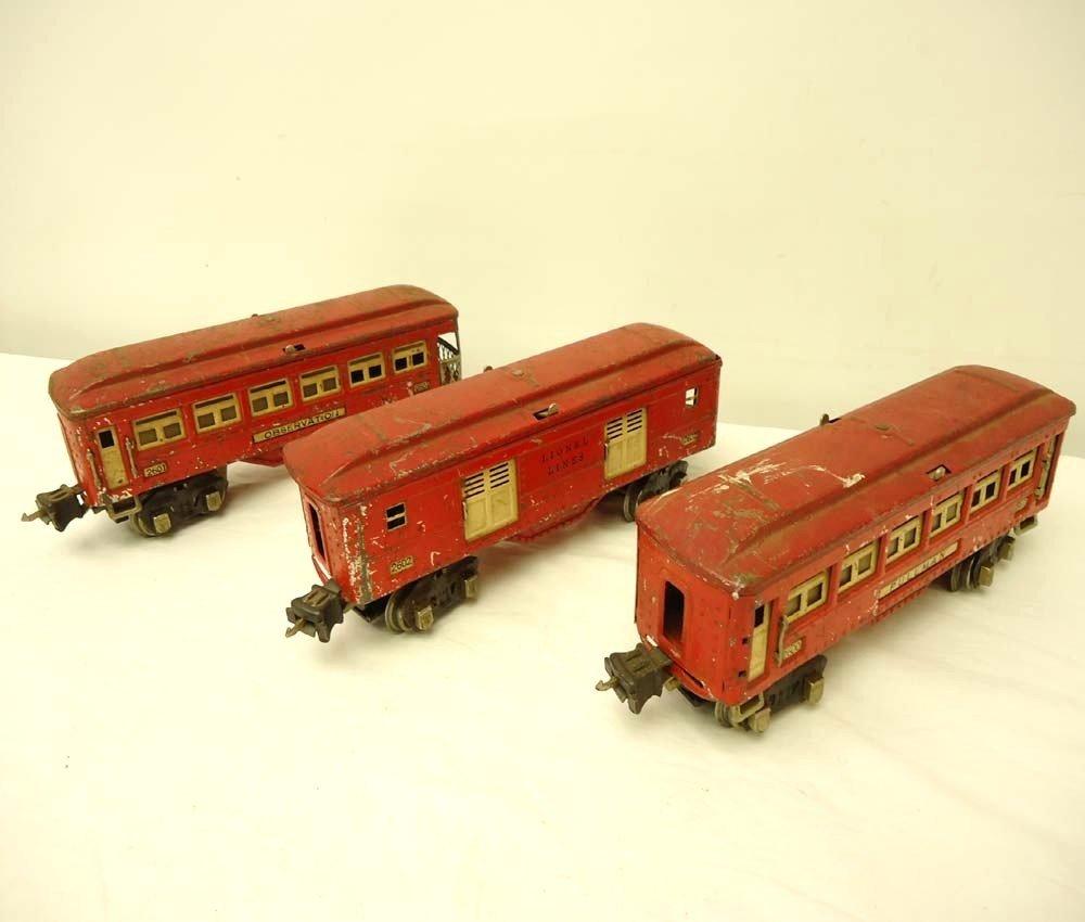 21: ABT: Lionel #2600/01/02 Red Passenger Cars