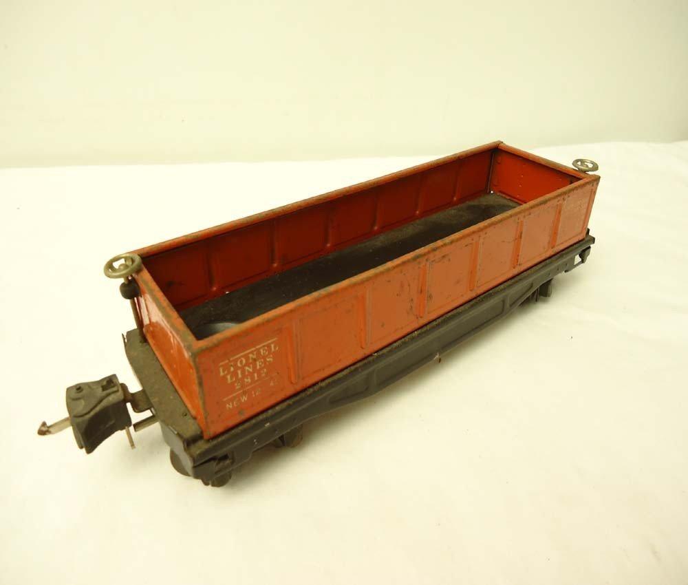 22: ABT: Nice Lionel O-Gauge #2812 Orange Gondola