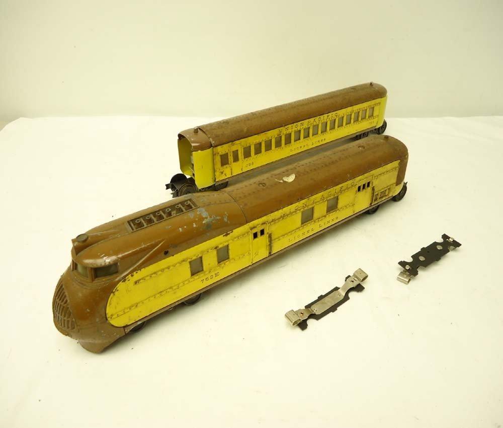 24: ABT: Lionel #752E & #753 UP Streamline Passenger It