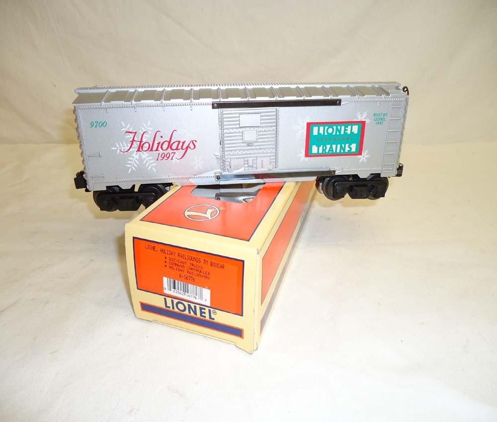 81: ABT: Lionel #16776 1997 Holiday Rail Sounds Box Car