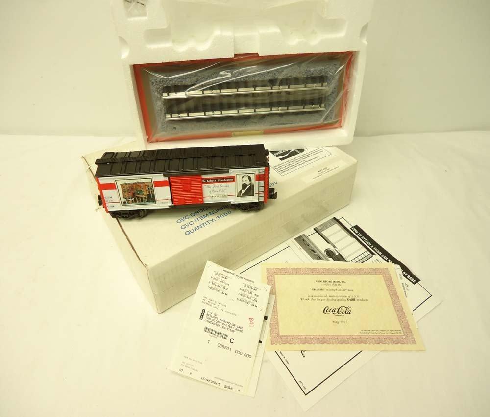 253: ABT: Mint K-Line #K641-5105 QVC Coca Cola Box Car/