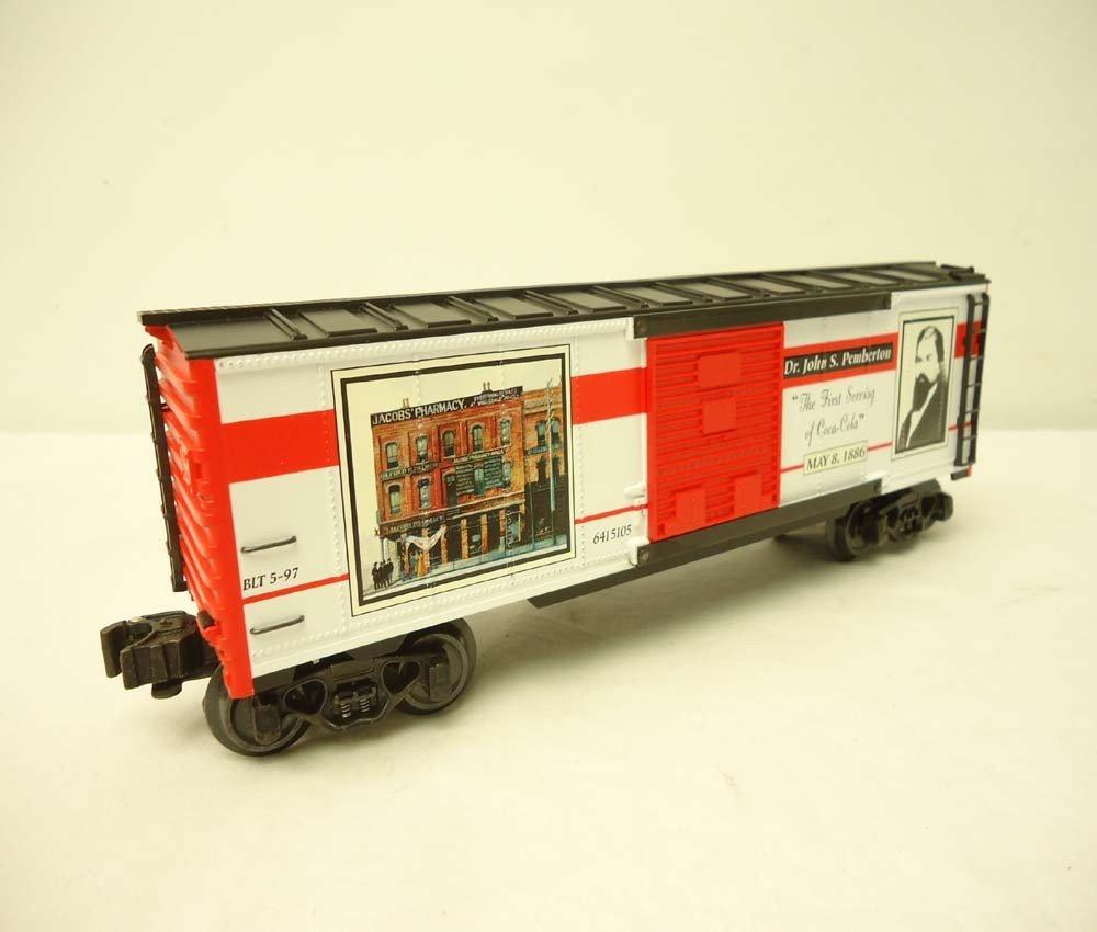 253: ABT: Mint K-Line #K641-5105 QVC Coca Cola Box Car/ - 4