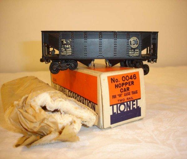 23: ABT: Lionel #0046 Black SP Hopper/Brick OB+
