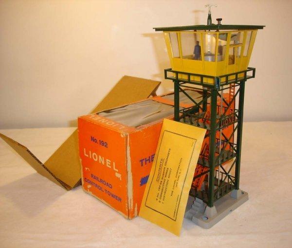226: ABT: Scarce Lionel #192 Railroad Control Tower/OB+