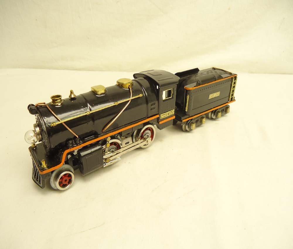 6: ABT: Lionel #257 Steam Engine & Tender (R)