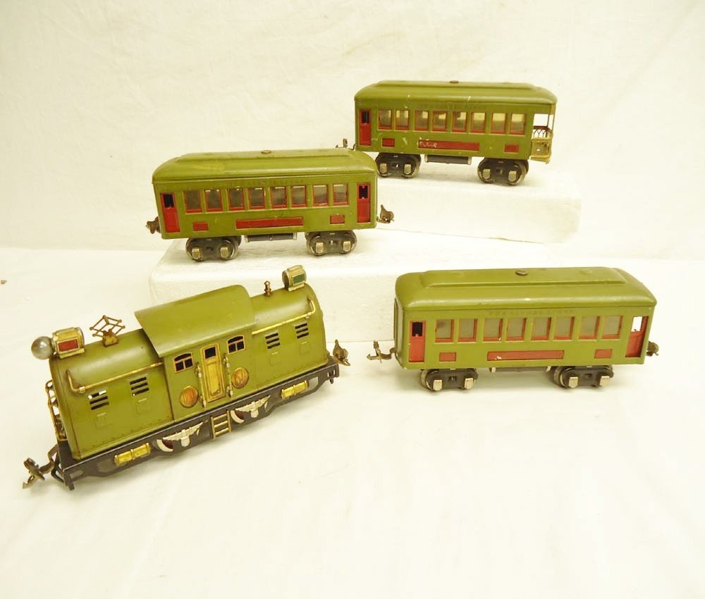 9: ABT: Lionel #254E Electric & #610 (2) & #612 Olive G
