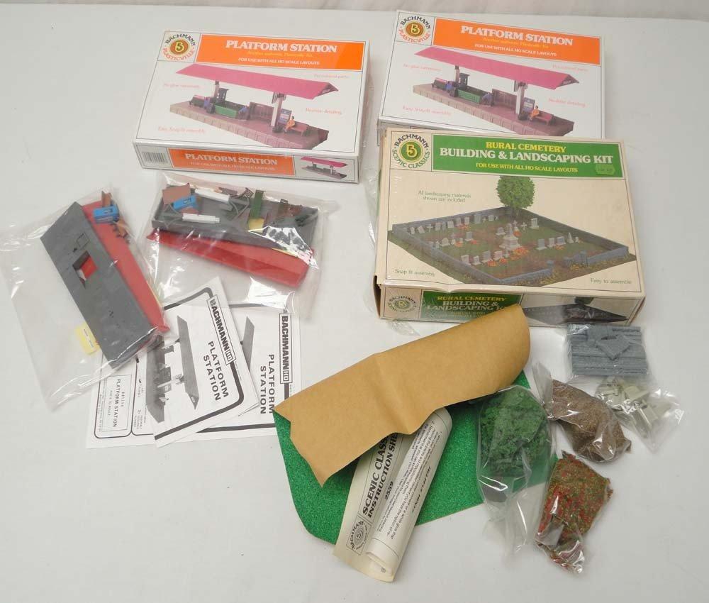 11: ABT: Bachmann HO Scale: 4 Assorted Building Kits/OB